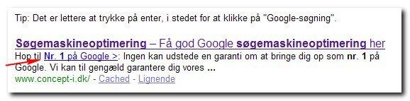 """Nr. 1 på Google - nu med """"hop-til-links"""""""